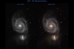 Supernova in M 51 Whirlpool Galaxy