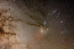Rho Ophiuchi and Antares Region